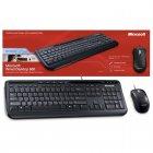 Kit Teclado e Mouse com fio Wired USB Microsoft Desktop 600 - Preto