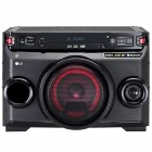Mini System LG XBoom OM4560 Preto, 200W RMS, Bluetooth, CD, USB, MP3, Karaokê, Sound Sync Wireless