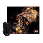 Mouse e Mousepad Gamer OEX Combo Arena - MC102