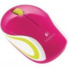 Mouse Mini Óptico Logitech Wireless M187 - Rosa, Sem Fio