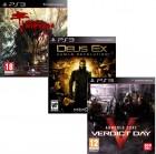 Pacote de Jogos com Dead Island Riptide PS3 + Deus Ex: Human R. PS3 + AmoredCore: Verdict Day PS3