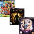 Pacote de Jogos com One Piece Unlimited World Red PS3 + Deus Ex: Human R. PS3 + Tales of Xilia2 PS3