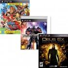 Pacote de Jogos One Piece U. World Red PS3 + Transformers Rise of Dark Spark PS3 + Deus Ex Human R.