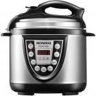 Panela de Pressão Elétrica Mondial PE-09 Pratic Cook, 4 Litros, 800W, 110V - Preto e Inox