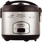 Panela Elétrica Mondial Pratic Rice & Vegetables Cooker PE-02, 6 Xícaras, 500W, 110V - Preto e Inox