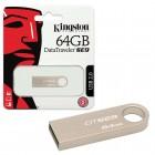 Pen Drive Kingston 64GB Datatraveler SE9 USB 2.0 Prata -  DTSE9H/64GB