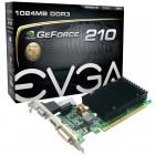 Placa De Vídeo EVGA Geforce 01G-P3-1313-KR GT 210, 1GB, DDR3, 64 Bits