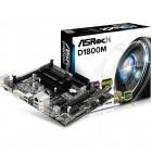 Placa Mãe ASRock Micro ATX D1800M - DDR3 16 GB, PCIe 2.0