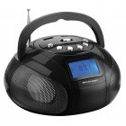 Rádio Multilaser Boombox SP145 Preto, MP3, USB, SD, FM, Bivolt - 10Wrms