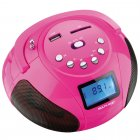 Rádio Multilaser Boombox SP146 Rosa, MP3, USB, SD, FM, Bivolt - 10Wrms