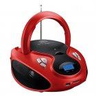 Rádio Multilaser Boombox SP180 Vermelho e Preto, USB, MP3, FM, Bivolt - 20Wrms