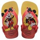 Sandália Havaianas Kids Baby Mickey Classic, 21 - Vermelho e Preto