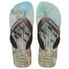 Sandália Havaianas Masculino Surf Areia, 45/46 - Azul e Preto