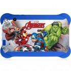 Tablet Infantil Disney Vingadores, Quad Core, Android 4.4, Dual Câmera, Tela 7