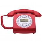 Telefone Com Fio IntelBras Retrô TC8312 Vermelho, Identificador de Chamadas e Viva Voz - 4030162