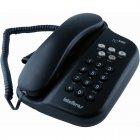Telefone Com Fio Intelbras TC500 Preto, com Chave de Bloqueio