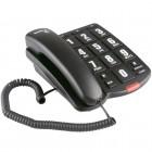 Telefone Com Fio IntelBras Tok Fácil Preto, com Teclas Grandes