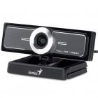 Webcam Genius 32200213101 WideCam F100, 1080p Full HD Ultra Wide Preto - USB, Com Microfone