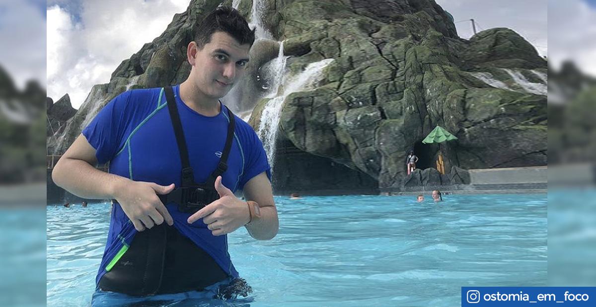 Imagem - Pode entrar na água com bolsa de colostomia? Ir para a piscina de bolsa de colostomia?