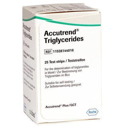 Accutrend Triglicerídeos c/ 25 Tiras