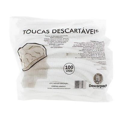 Touca Descartável Descarpack (100 unidades)