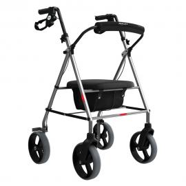 Imagem - Andador de Alumínio 4 Rodas com assento e cesta - MERCUR