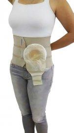 Imagem - Cinta com adaptador para bolsa de colostomia 3 painéis - 23 cm largura