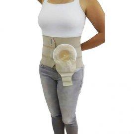 Imagem - Cinta com adaptador para bolsa de colostomia 4 painéis - 30 cm de largura