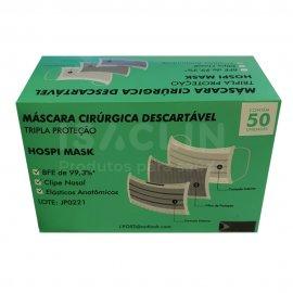 Imagem - Máscara Cirúrgica Tripla Descartável (50 unidades)