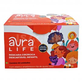 Imagem - Máscara Cirúrgica Tripla (Infantil) - Aura Life