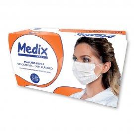 Imagem - Máscara Tripla Descartável com Elástico - MEDIX