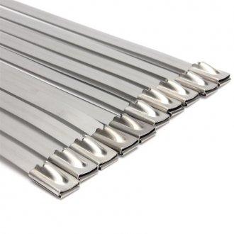 Imagem - Kit 10 Abraçadeiras Zip Tie Inox - 4,6mm x 450mm cód: 7200