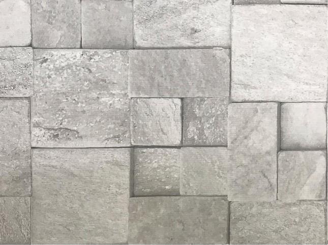 Tecido WaterHavana Estampa Digital Mosaico Pedra Cinza