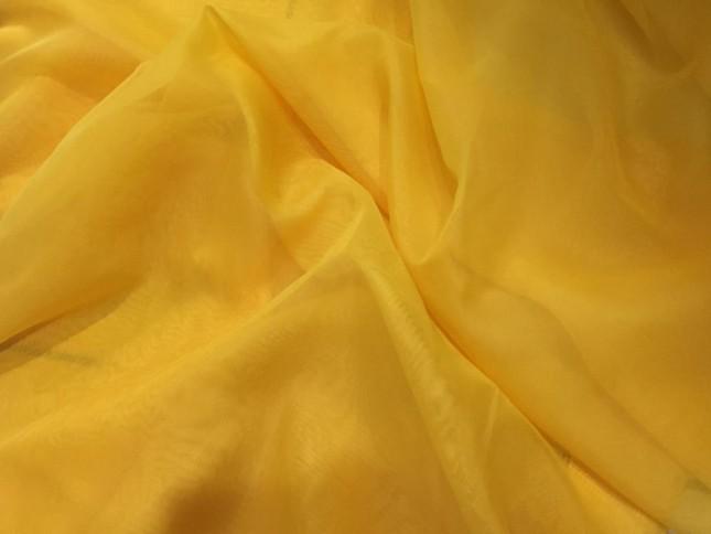 Tecido Voal Liso Amarelo Ouro