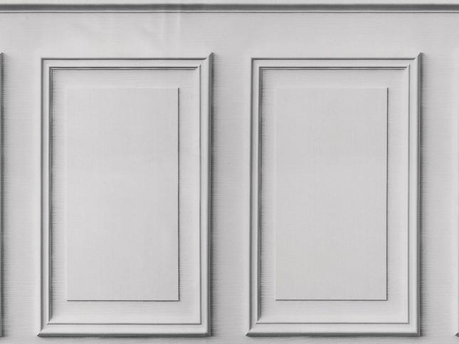 Tecido de parede BOISERIE/BRANCO