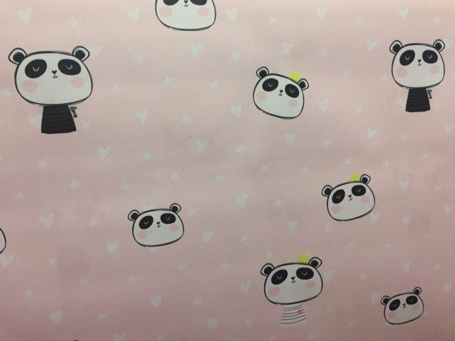 Tecido de Parede Kids/Love Panda