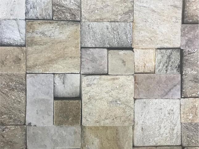 Tecido WaterHavana Estampa Digital Mosaico Pedra Bege