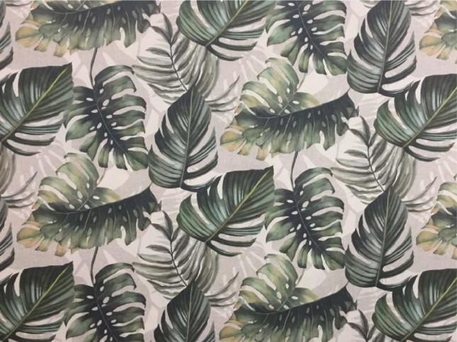 Tecido WaterHavana Estampa Digital Costela de Adão Verde