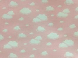 Imagem - Tecido Belize Estampado Nuvem Rosa cód: 204220