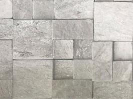 Imagem - Tecido WaterHavana Estampa Digital Mosaico Pedra Cinza cód: 205774