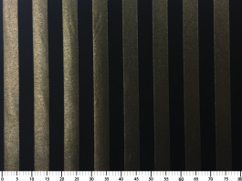 Imagem - Tecido Atlanta Lurex Listrado Dourado/Preto cód: 205123