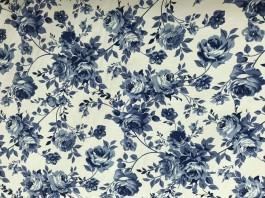 Imagem - Tecido Belize Estampado Floral Azul cód: 205468