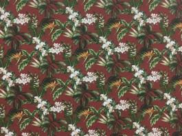 Imagem - Tecido Acquablock Florais Terracota cód: 205386