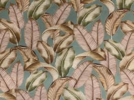 Imagem - Tecido Havana Estampa Digital Folhas Rosa cód: 205514