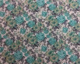 Imagem - Tecido Belize Floral Fundo Marfim cód: 205032
