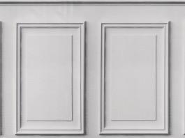 Imagem - Tecido de parede BOISERIE/BRANCO cód: 205361