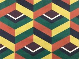 Imagem - Tecido Veludo Vellus Michigan Geométrico Amarelo/Verde/Terra cód: 205876