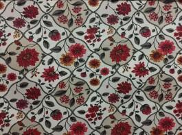 Imagem - Tecido Belize Floral Vermelho cód: 205033