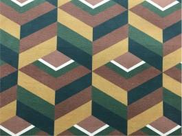Imagem - Tecido Veludo Vellus Michigan Geométrico Amarelo/Verde cód: 205870