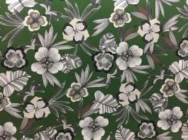 Imagem - Tecido Belize Floral Fundo verde cód: 205424